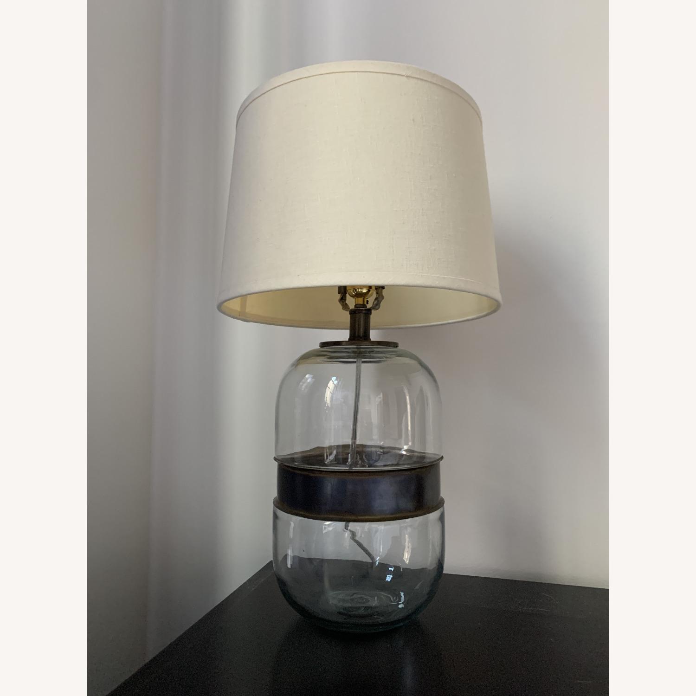 Restoration Hardware Glass Lamp - image-1