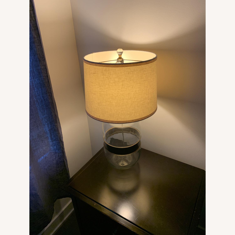 Restoration Hardware Glass Lamp - image-2
