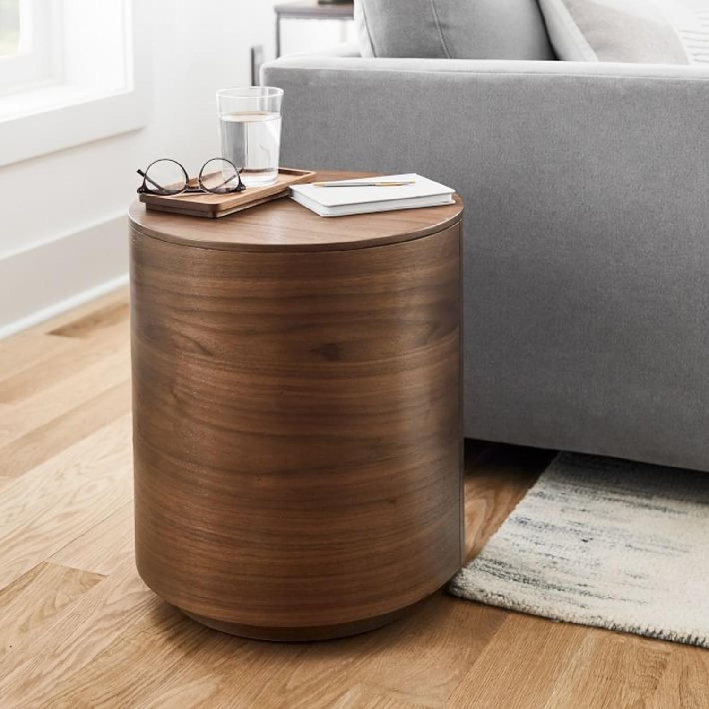 West Elm Side Table, Cool Walnut - image-3