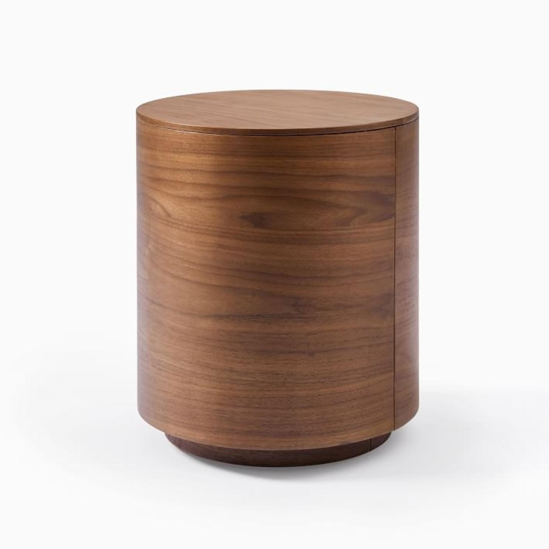 West Elm Side Table, Cool Walnut - image-1