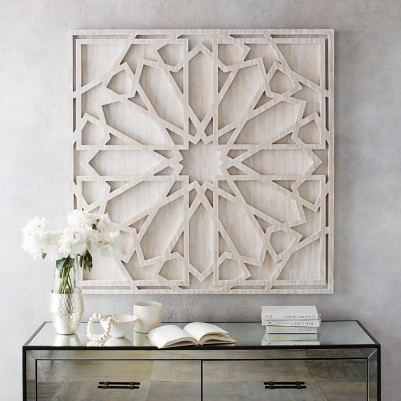 West Elm Graphic Wood Wall Art, Whitewashed - image-3