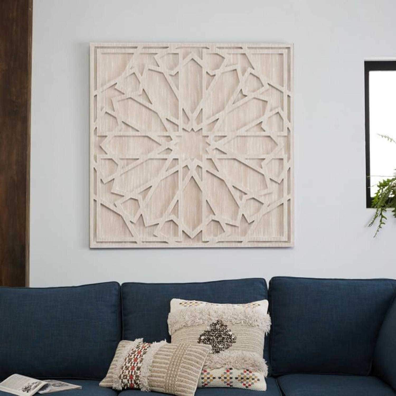 West Elm Graphic Wood Wall Art, Whitewashed - image-2