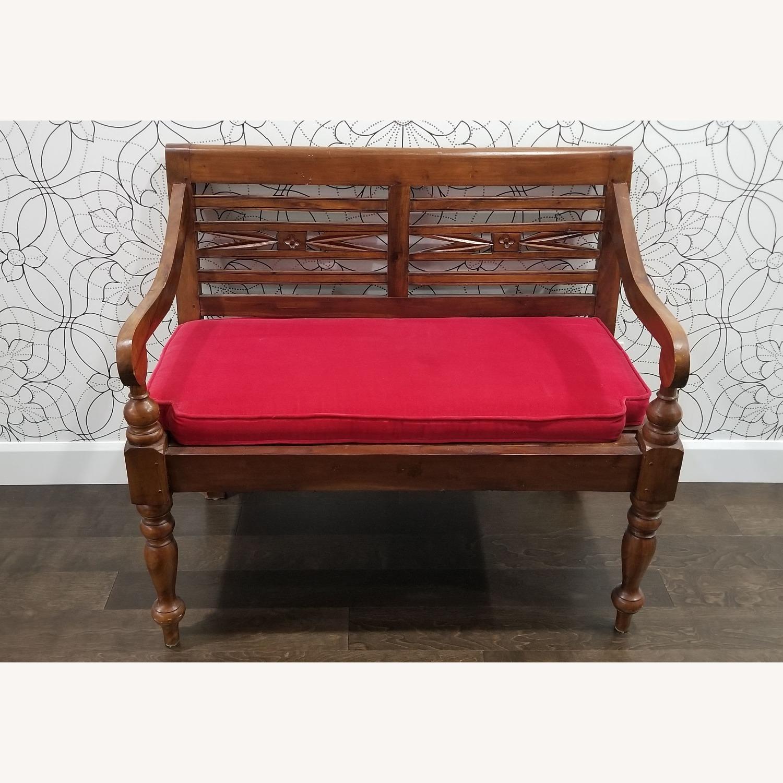 Real Wood Bench - image-1