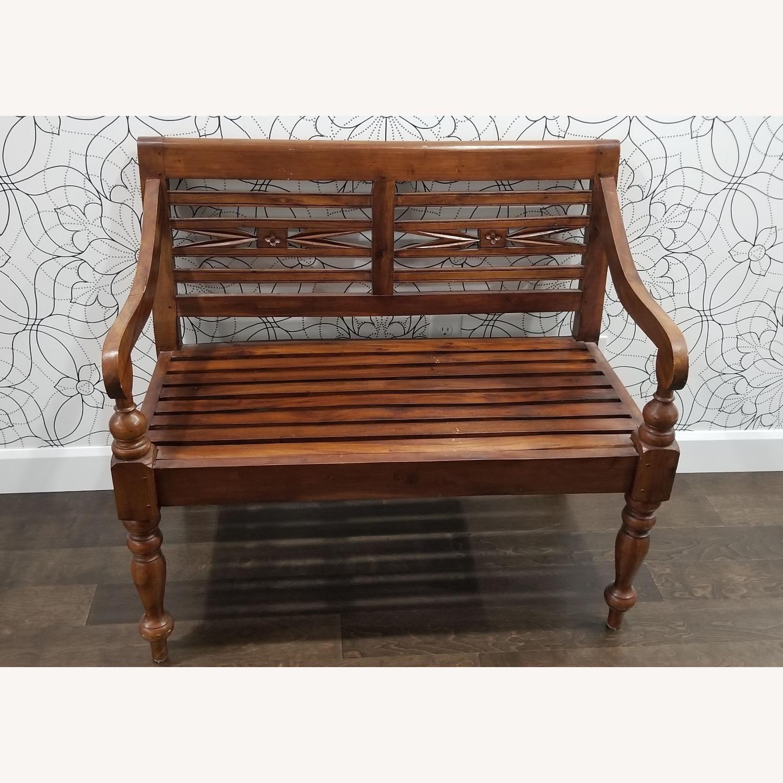 Real Wood Bench - image-3