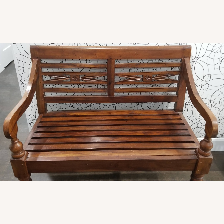 Real Wood Bench - image-5