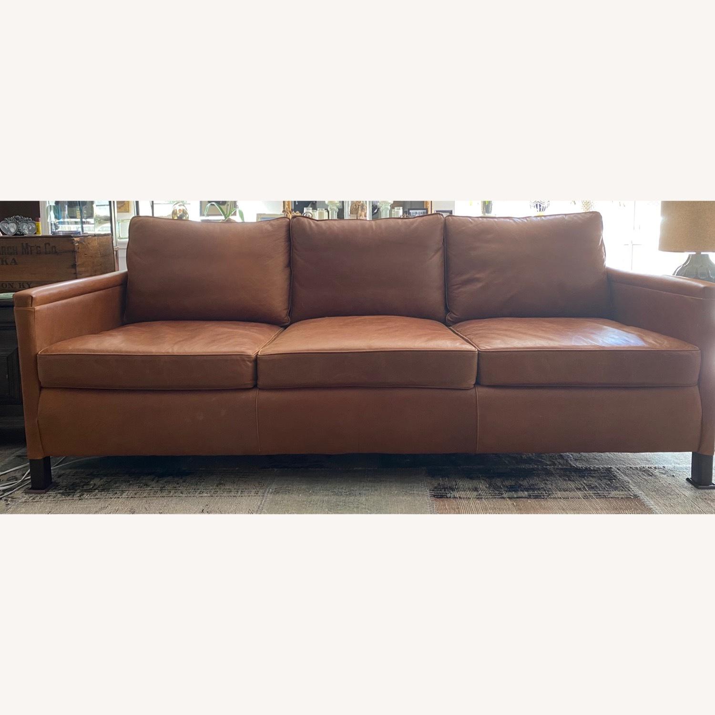 ABC Carpet and Home 3-SEAT Leather Sofa - image-1