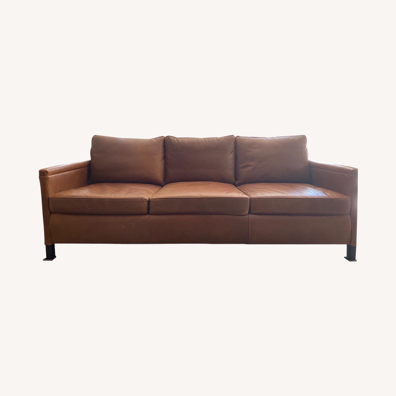 ABC Carpet and Home 3-SEAT Leather Sofa - image-0