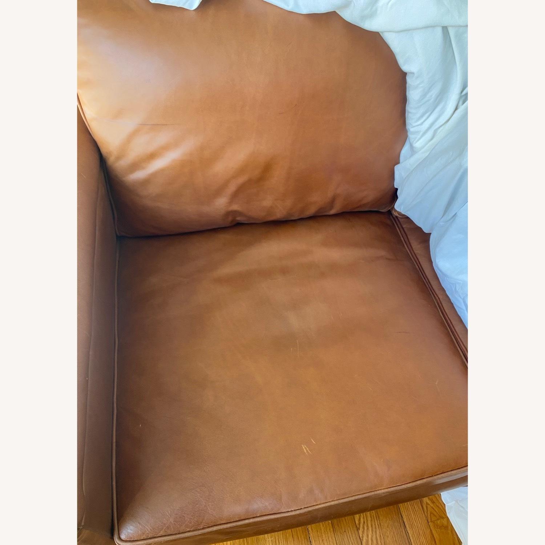 ABC Carpet and Home 3-SEAT Leather Sofa - image-4