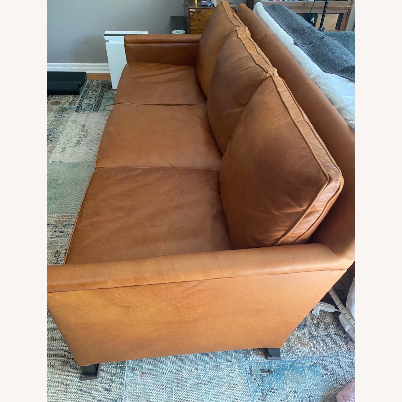 ABC Carpet and Home 3-SEAT Leather Sofa - image-2
