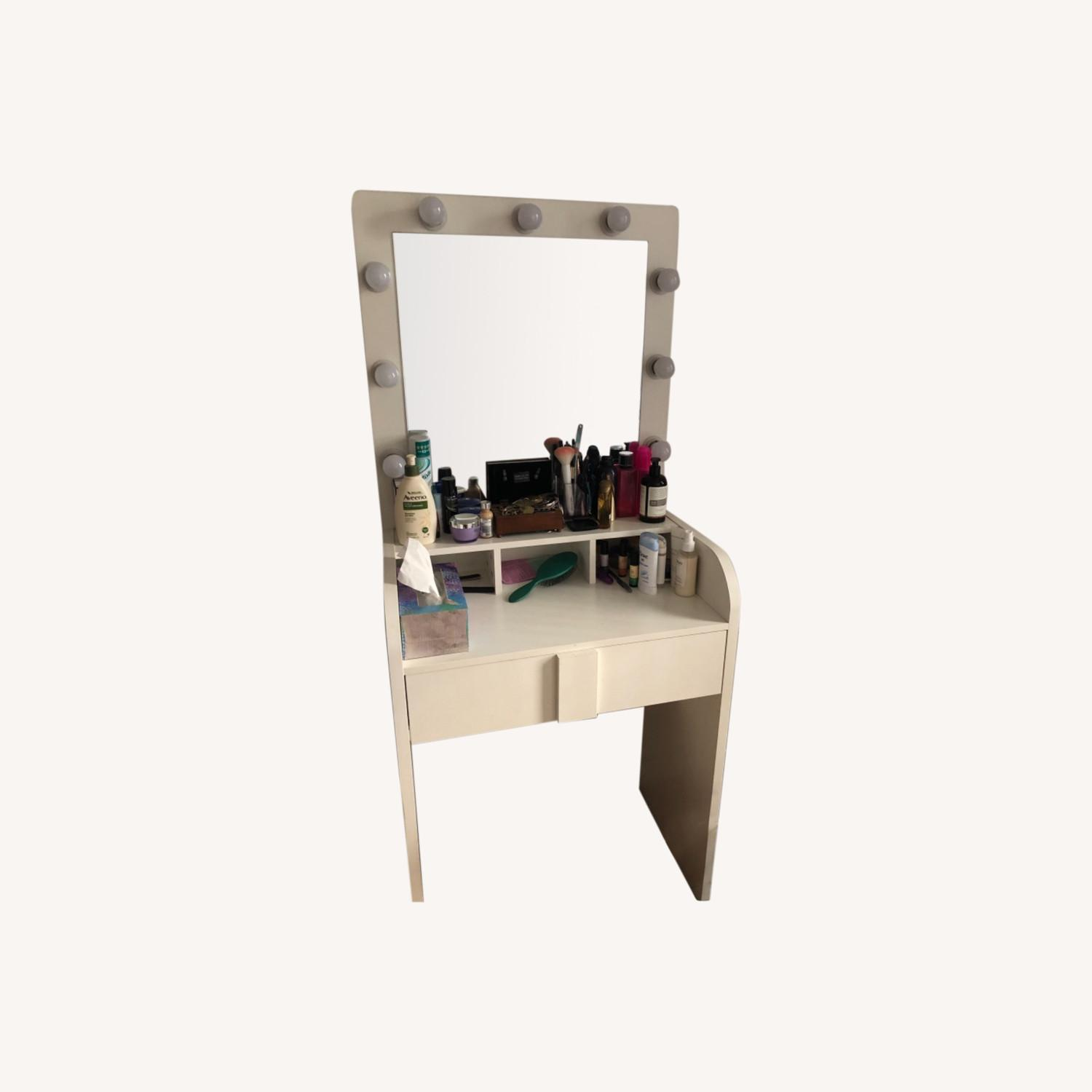 Wayfair Baldon Vanity Set with Mirror - image-0