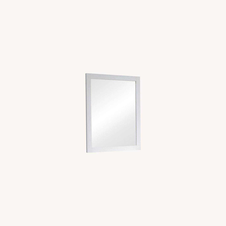 Versatile Design Mirror In White Wood Frame Finish - image-4