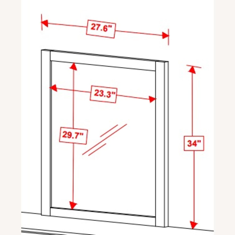 Versatile Design Mirror In White Wood Frame Finish - image-3