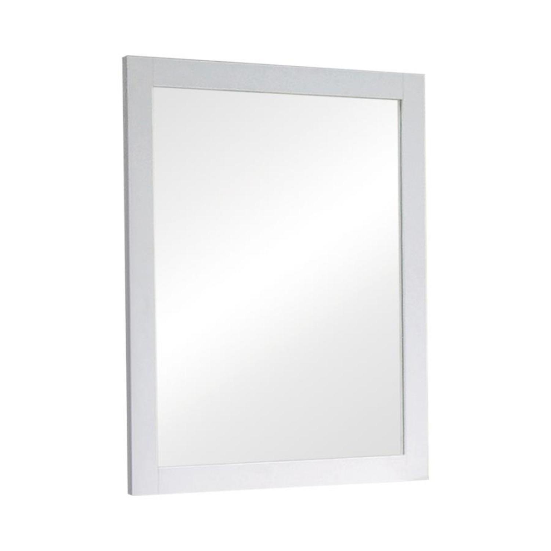 Versatile Design Mirror In White Wood Frame Finish - image-0