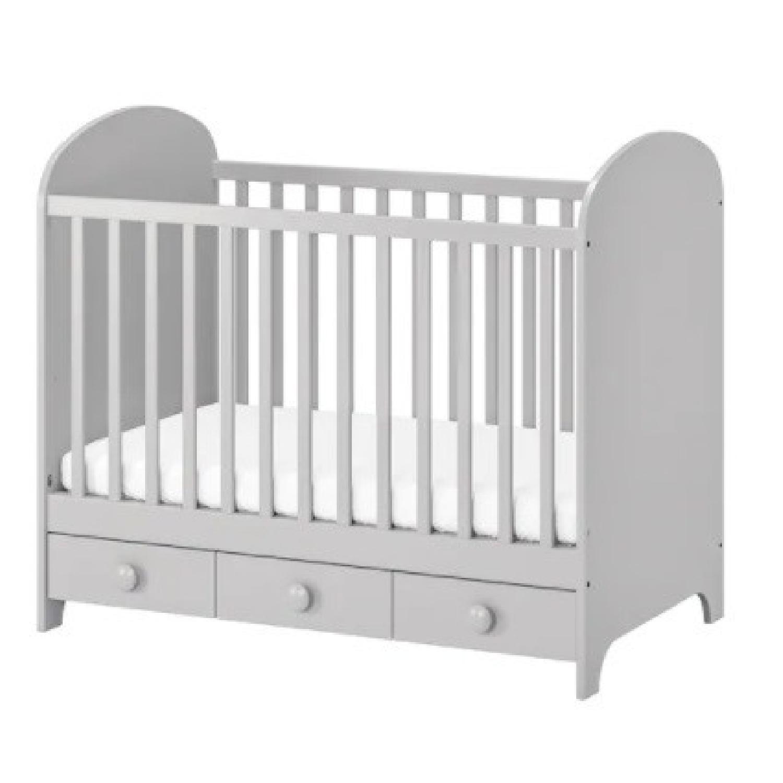 IKEA 2 in 1 Convertible Crib - image-5