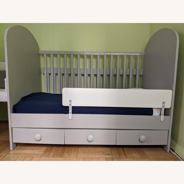 IKEA 2 in 1 Convertible Crib - image-1
