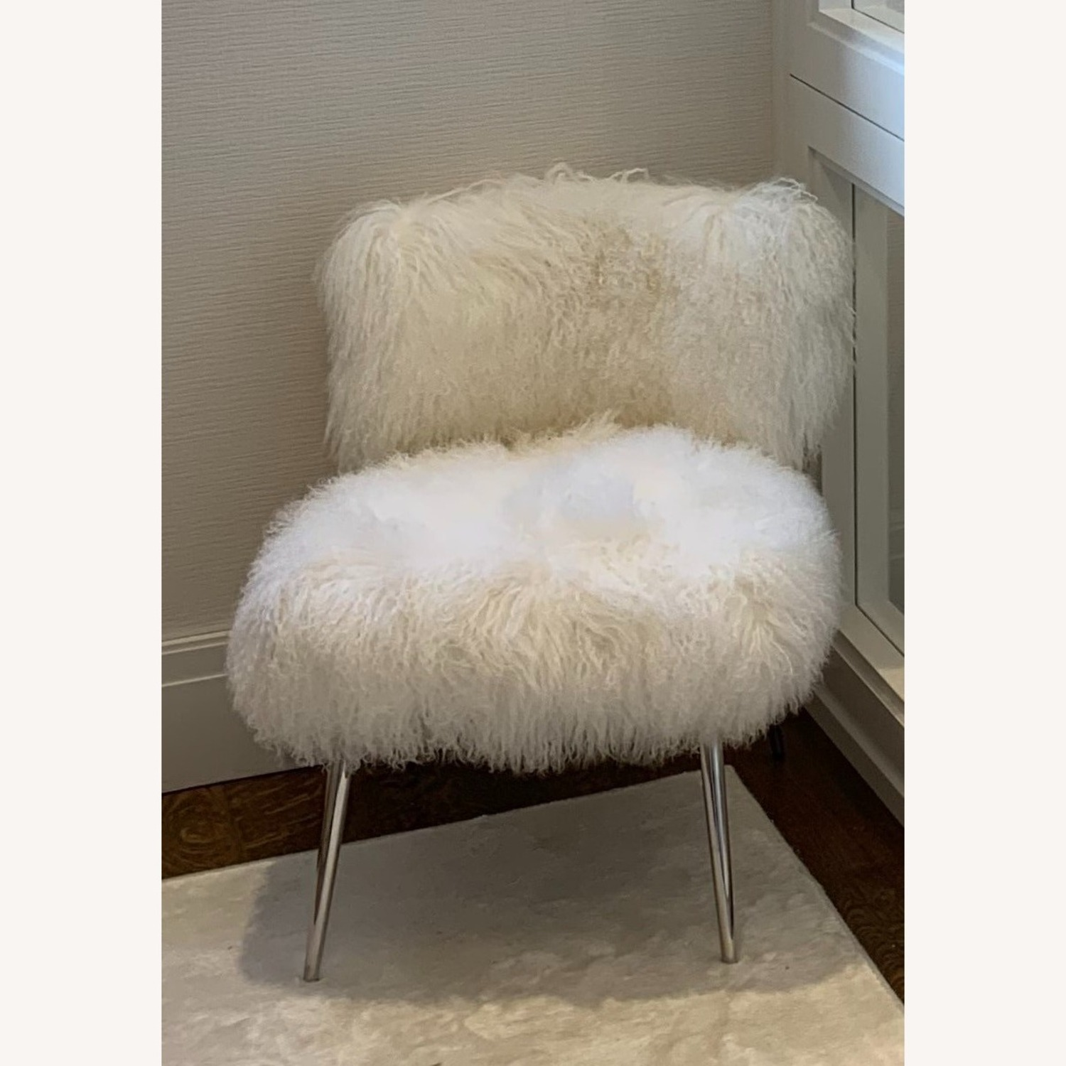 Mitchell Gold + Bob Williams Tibetan Wool Fur Chair - image-1