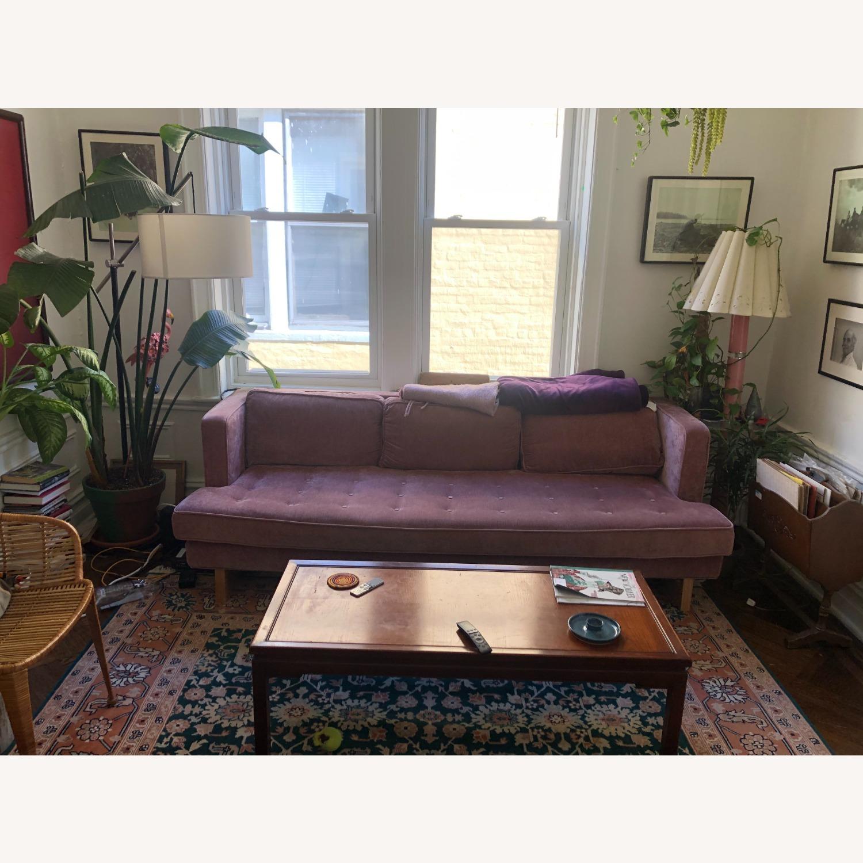 Gus Modern Velvet Blush Sofa - image-2