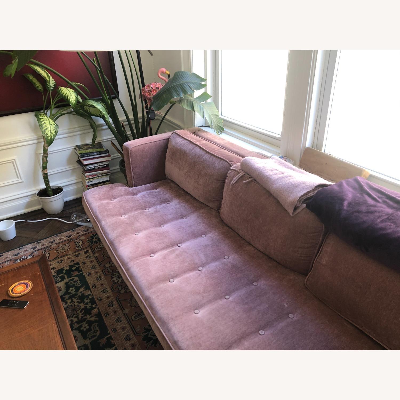 Gus Modern Velvet Blush Sofa - image-3