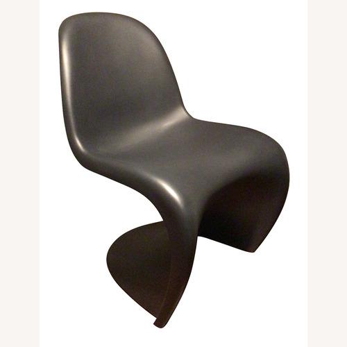 Used Vitra black Panton Chair for sale on AptDeco