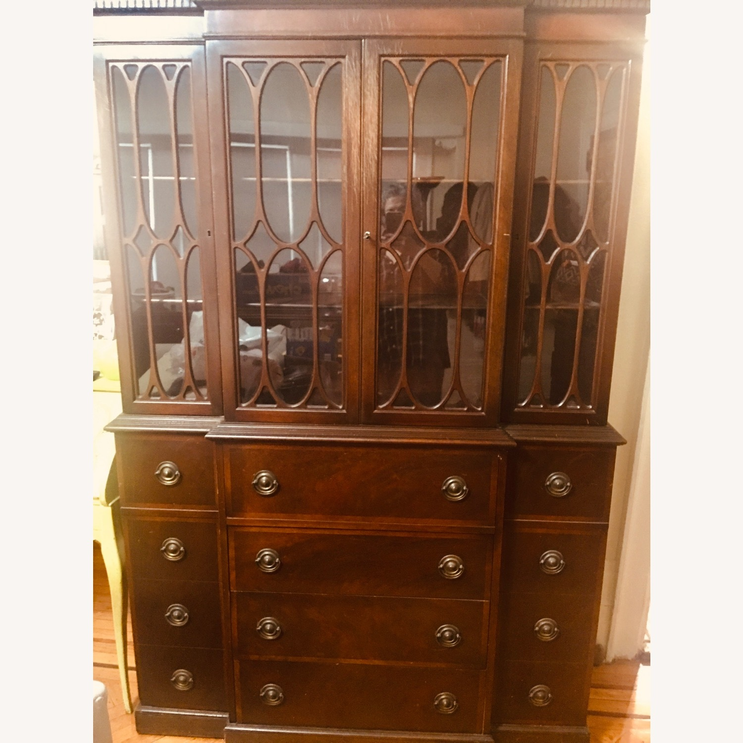 Antique Mahogany Secretary Bookcase Desk - image-0