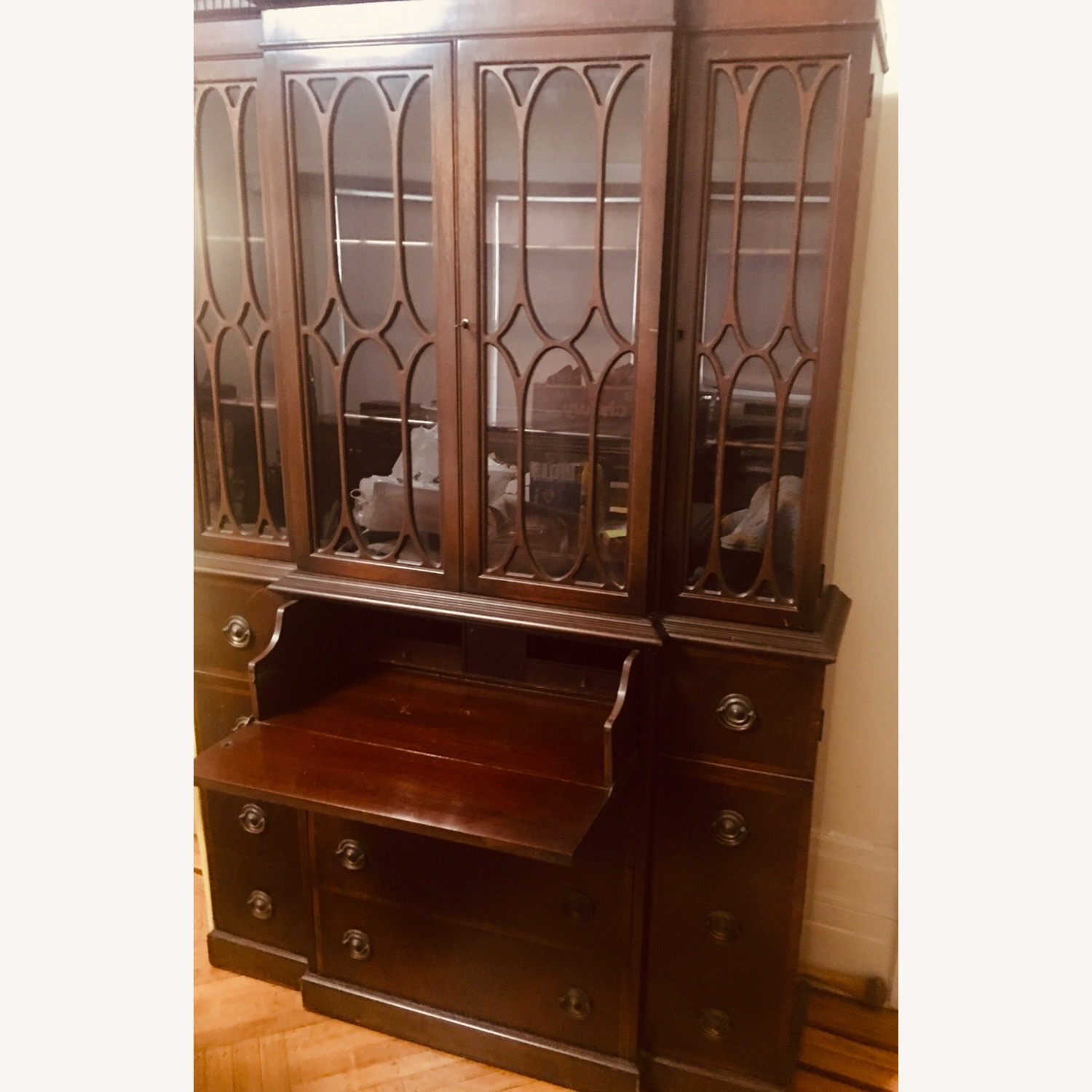 Antique Mahogany Secretary Bookcase Desk - image-1
