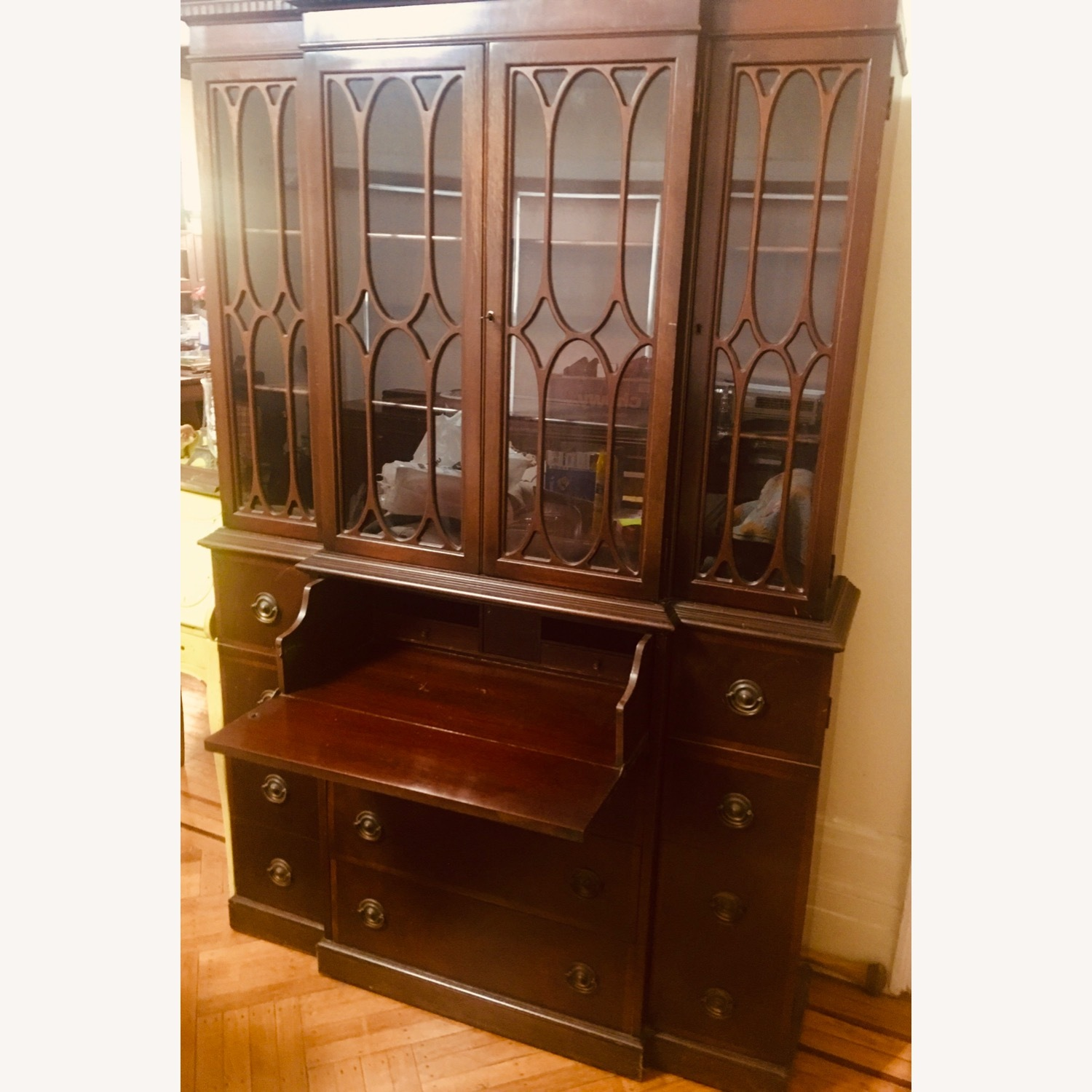 Antique Mahogany Secretary Bookcase Desk - image-4