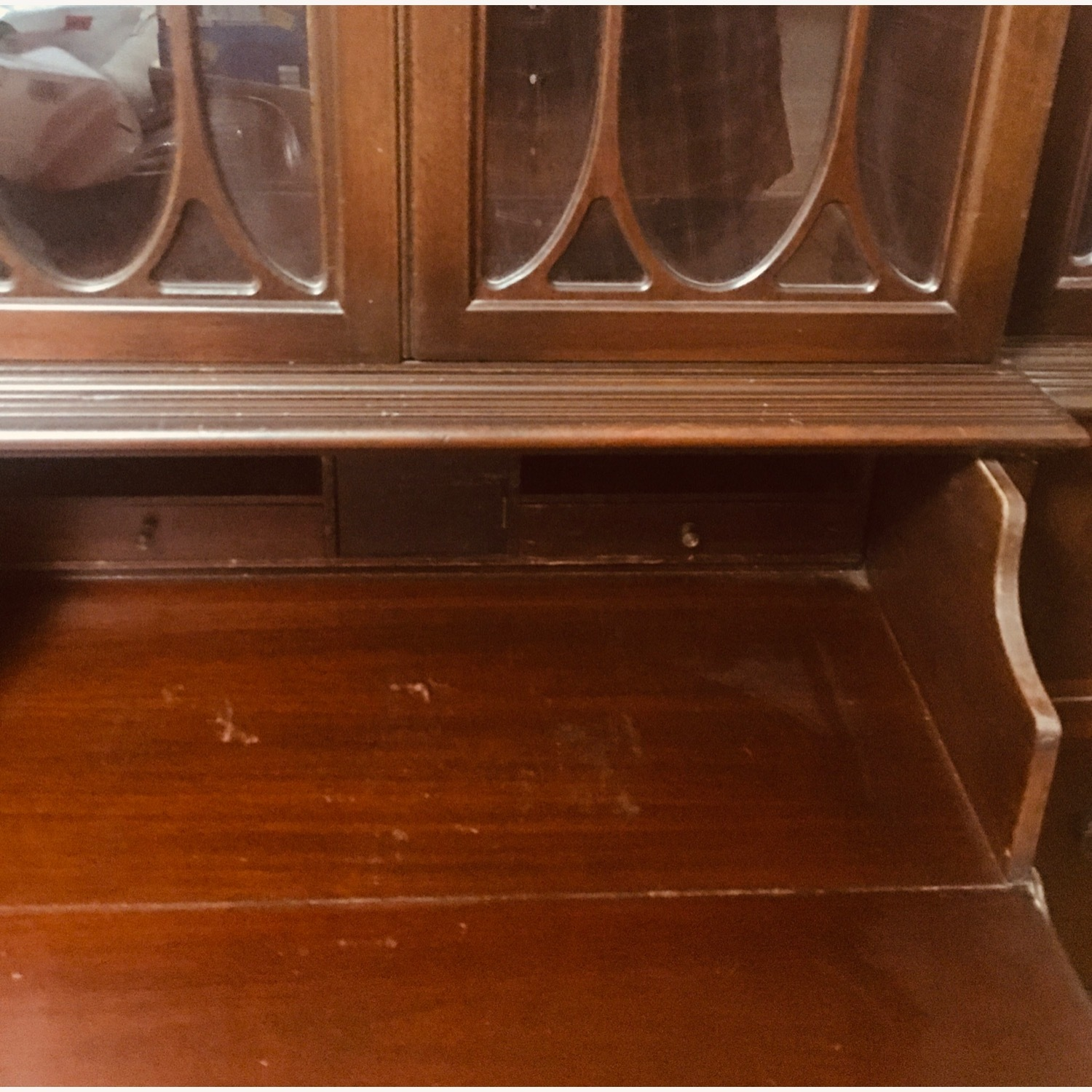 Antique Mahogany Secretary Bookcase Desk - image-8