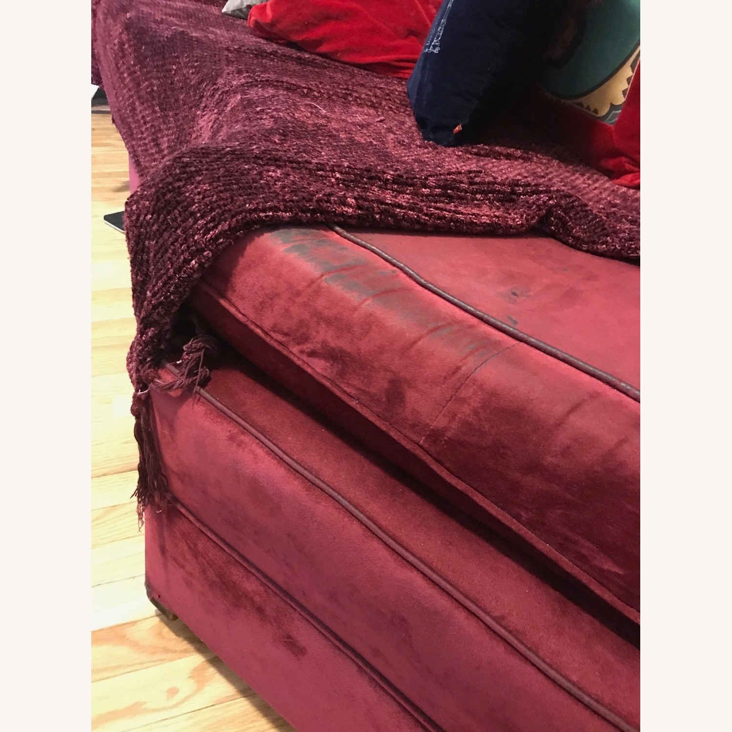 """Vintage 50's """"S""""-shaped 2-pc Sectional Sofa - image-42"""