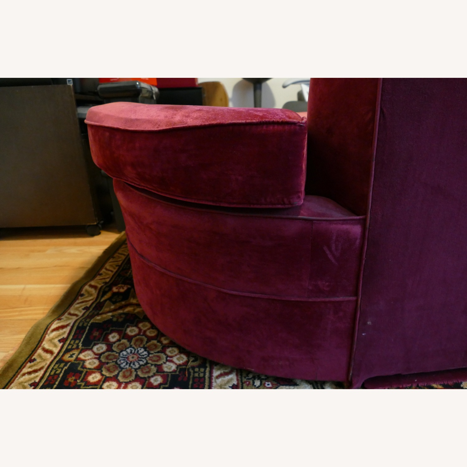 """Vintage 50's """"S""""-shaped 2-pc Sectional Sofa - image-37"""