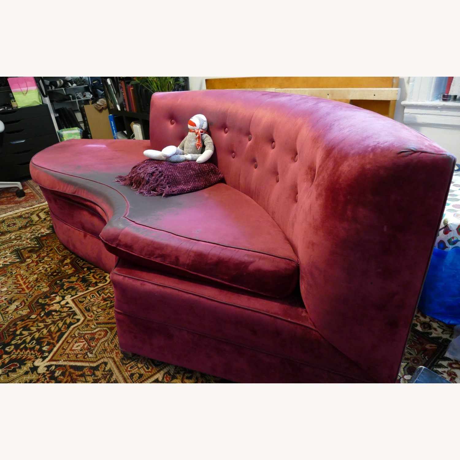 """Vintage 50's """"S""""-shaped 2-pc Sectional Sofa - image-25"""