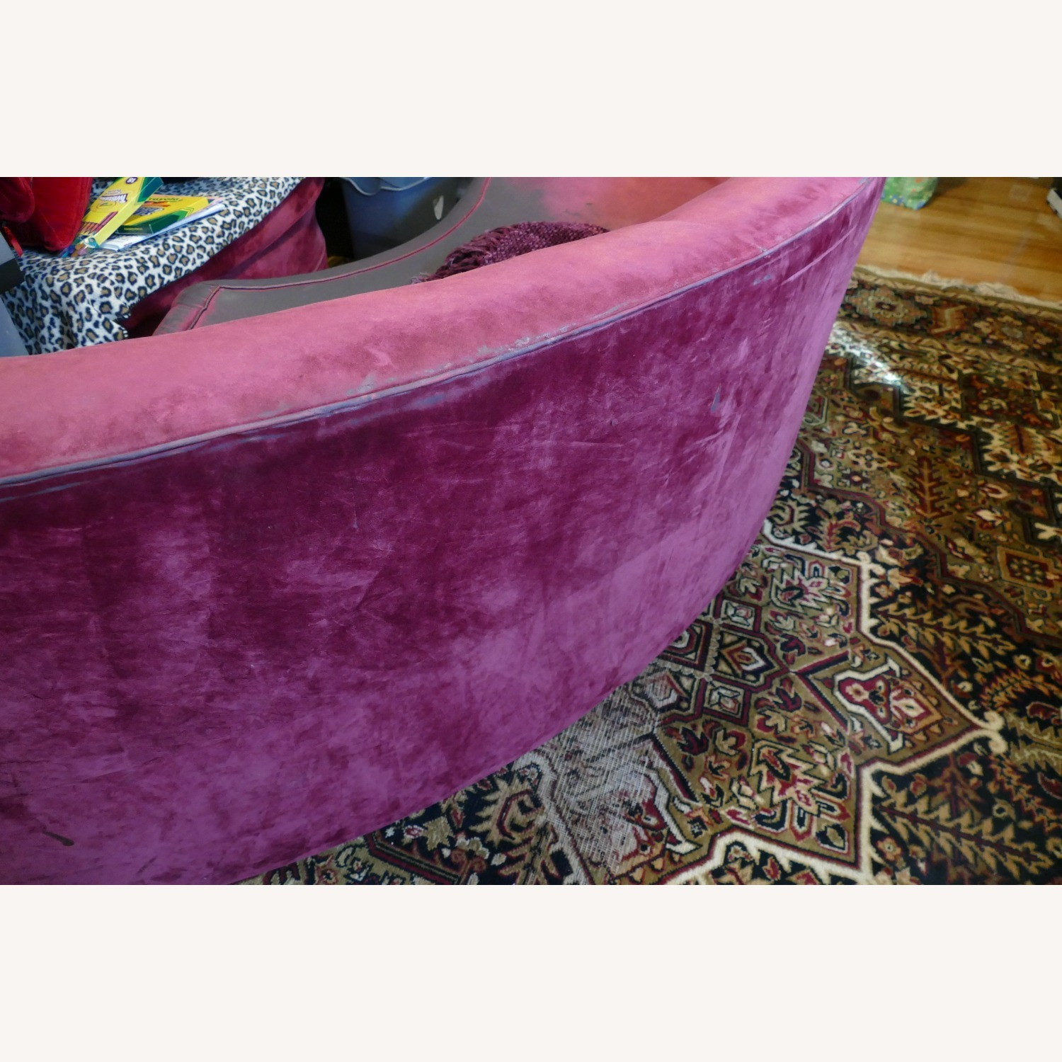"""Vintage 50's """"S""""-shaped 2-pc Sectional Sofa - image-27"""