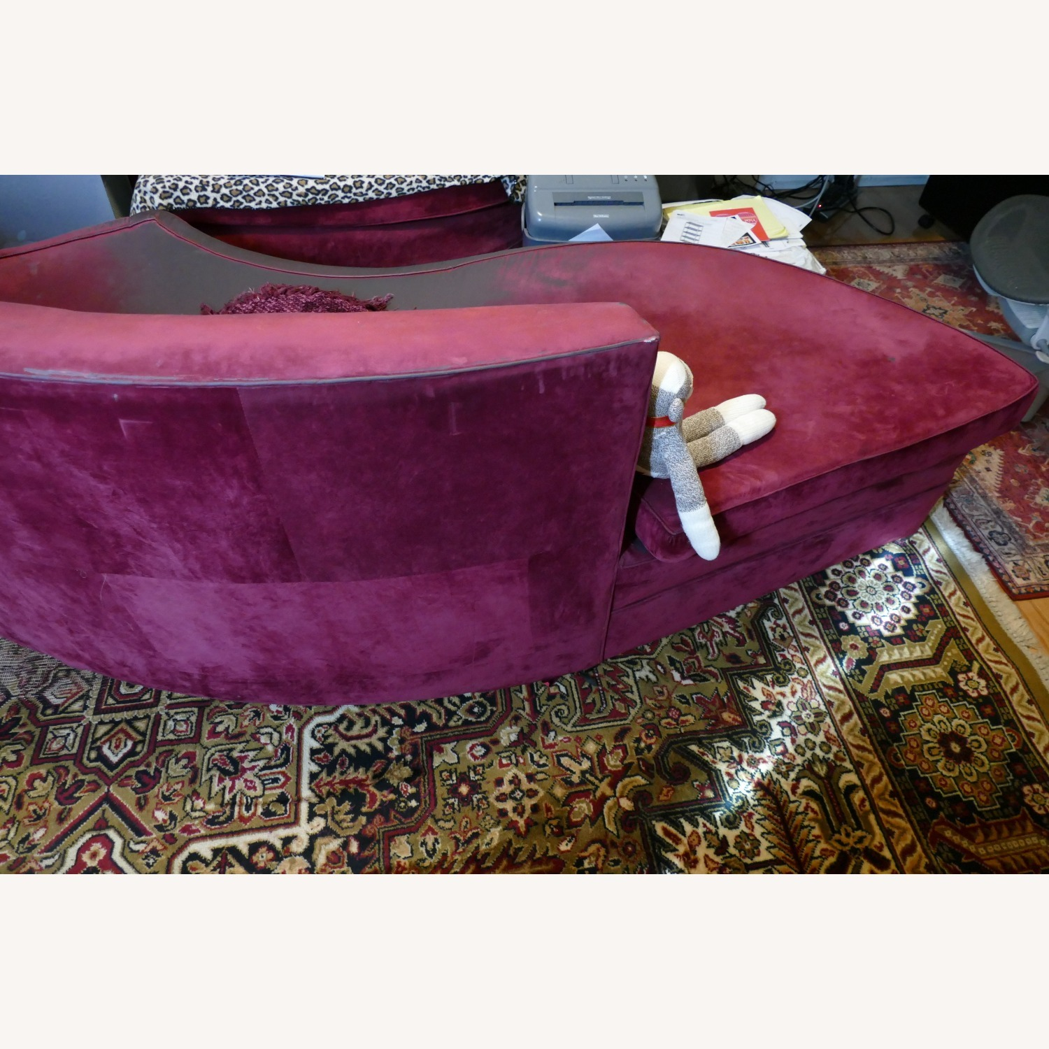 """Vintage 50's """"S""""-shaped 2-pc Sectional Sofa - image-28"""
