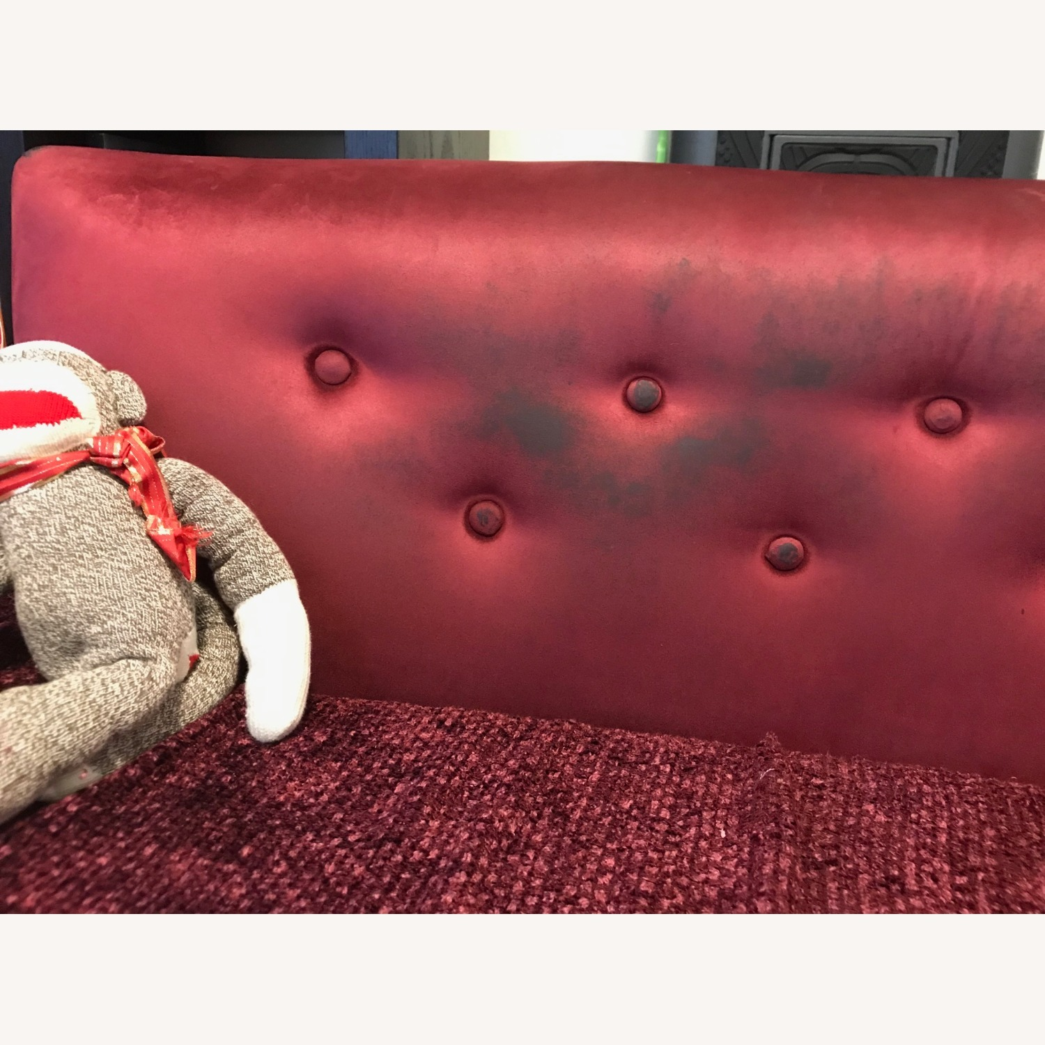 """Vintage 50's """"S""""-shaped 2-pc Sectional Sofa - image-39"""