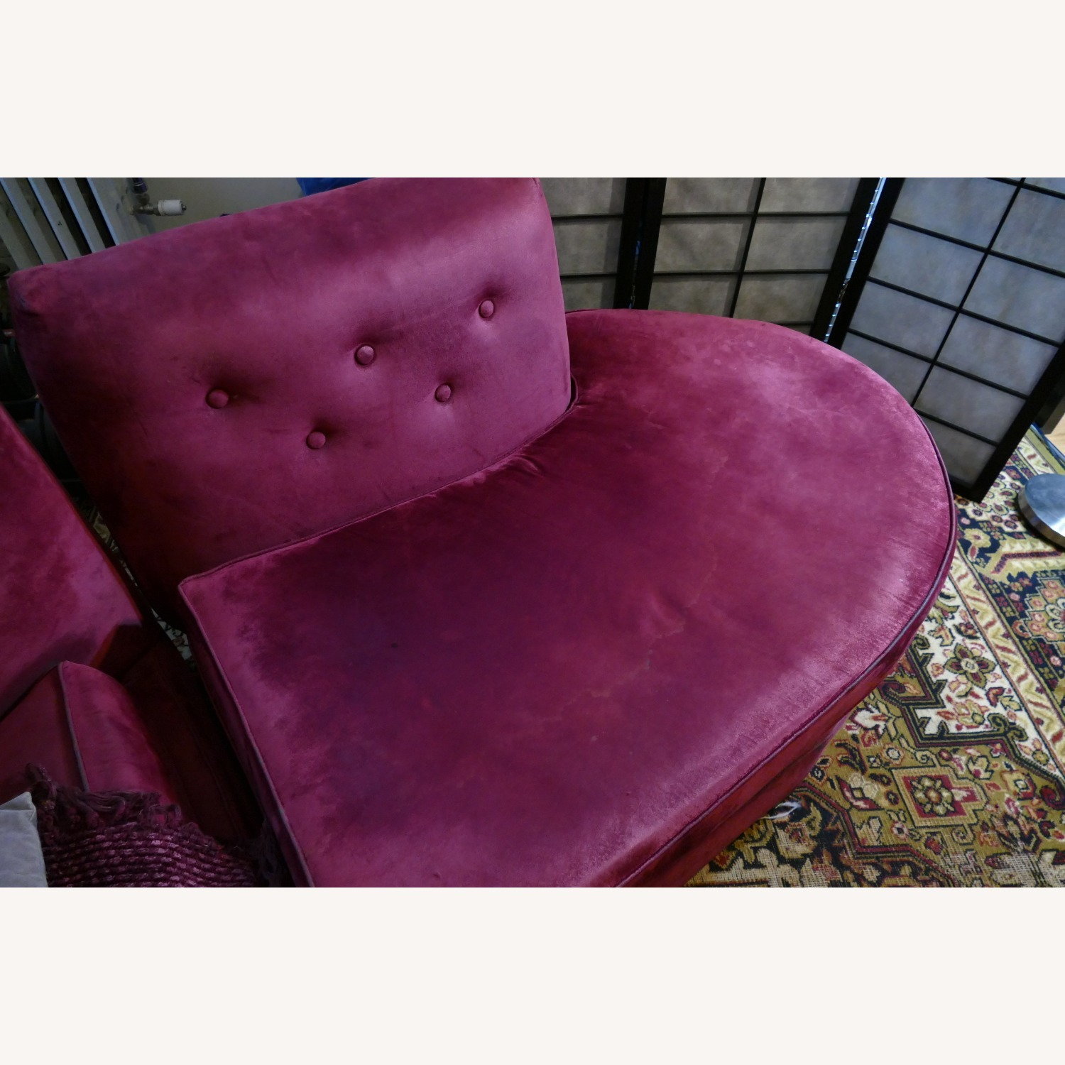 """Vintage 50's """"S""""-shaped 2-pc Sectional Sofa - image-14"""