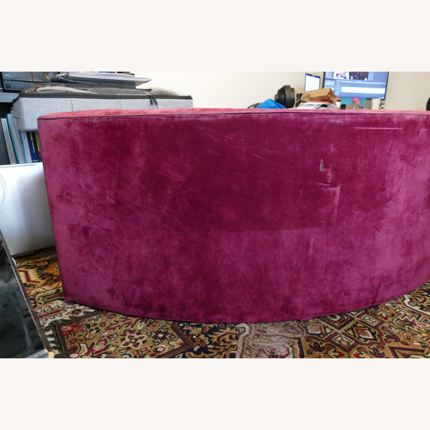 """Vintage 50's """"S""""-shaped 2-pc Sectional Sofa - image-29"""