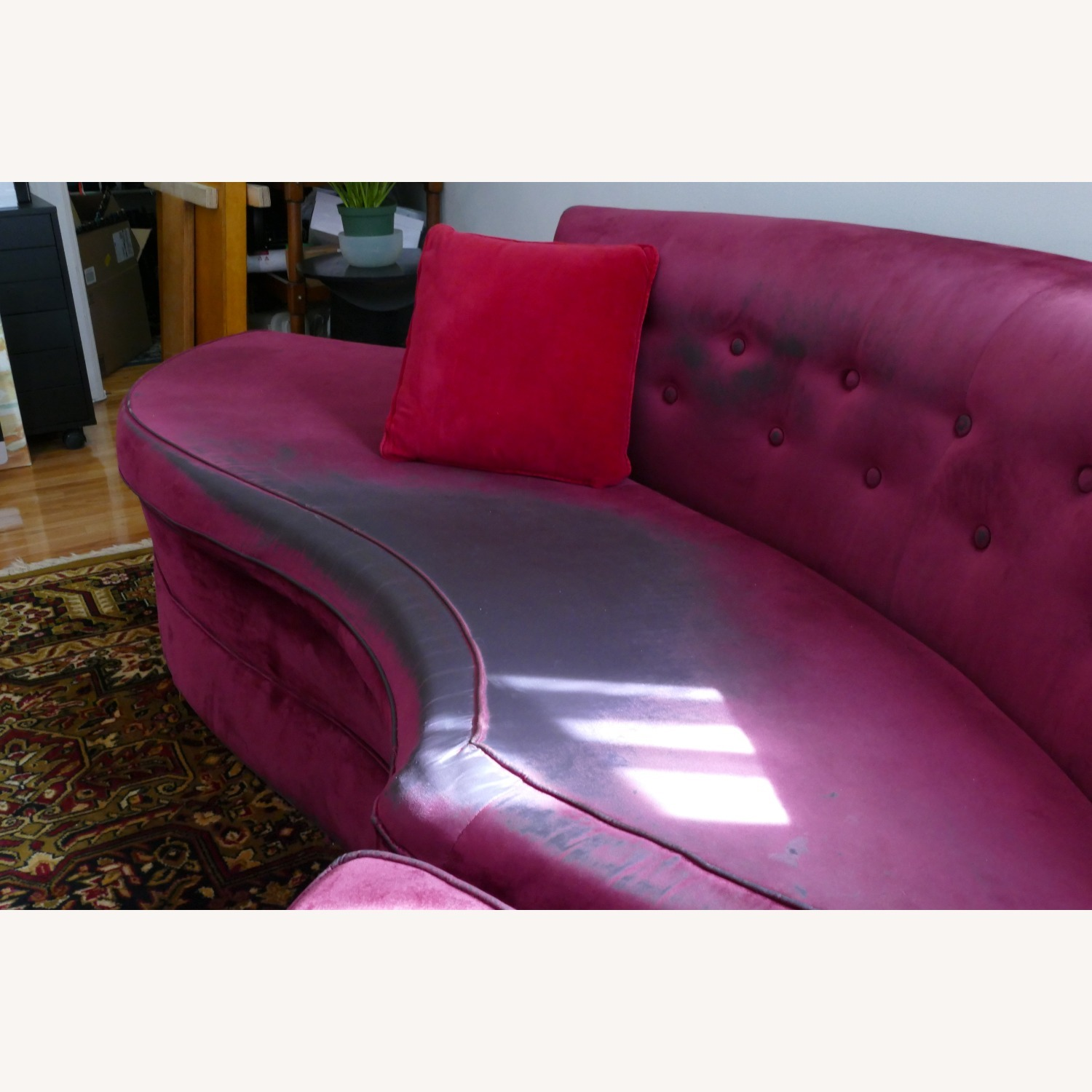 """Vintage 50's """"S""""-shaped 2-pc Sectional Sofa - image-13"""