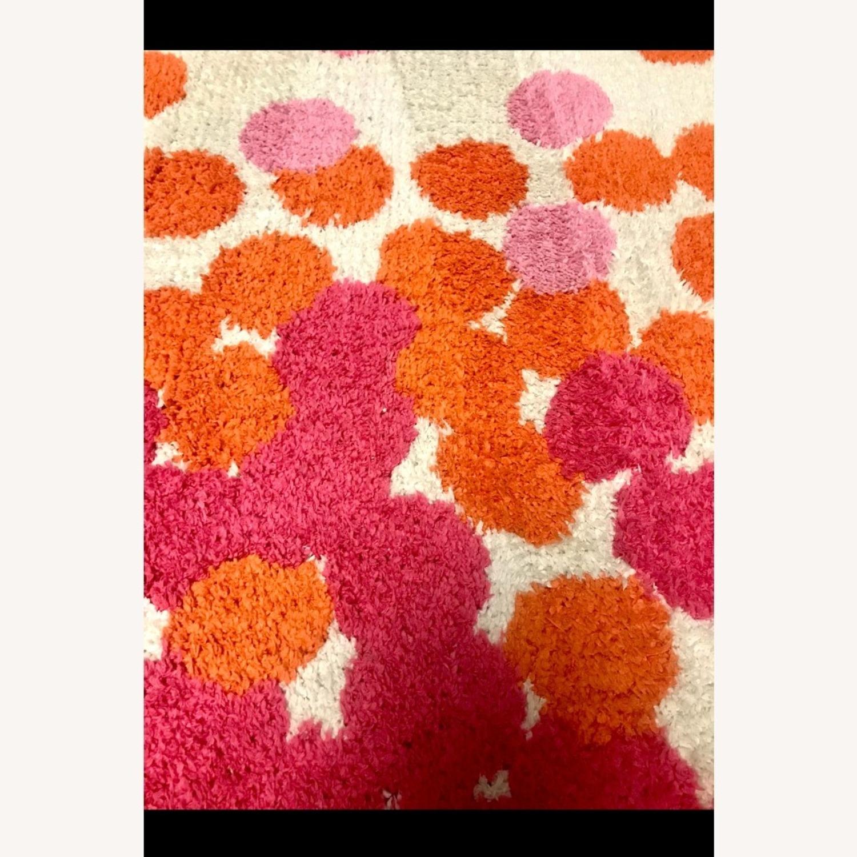 Surya Abigail Pink & Orange Polka Dot Rug, 5x8 - image-1
