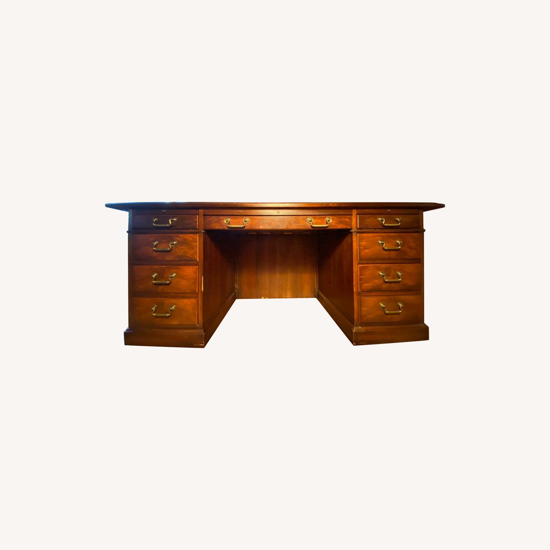 Kimball President Double Pedestal Desk - image-0