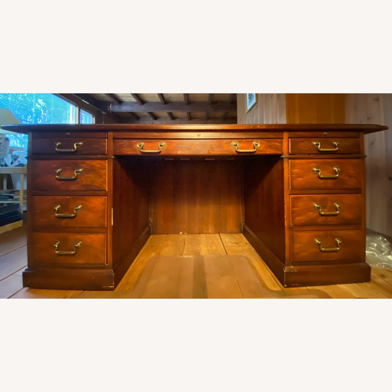 Kimball President Double Pedestal Desk - image-1