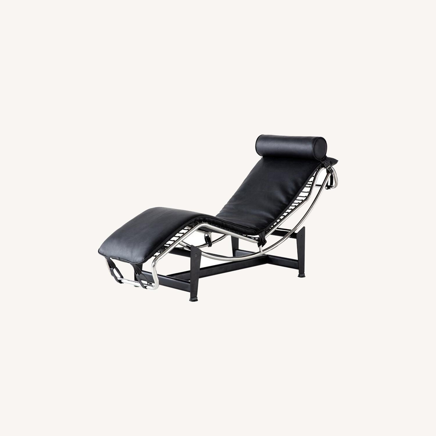 Recliner Leather Chaise Lounger - image-0