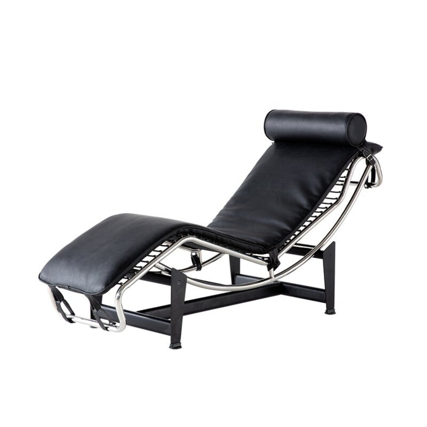 Recliner Leather Chaise Lounger - image-1