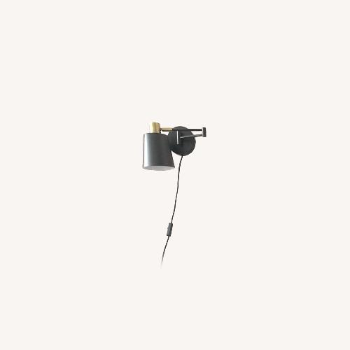 Used Black and Brass Plug in sconce for sale on AptDeco