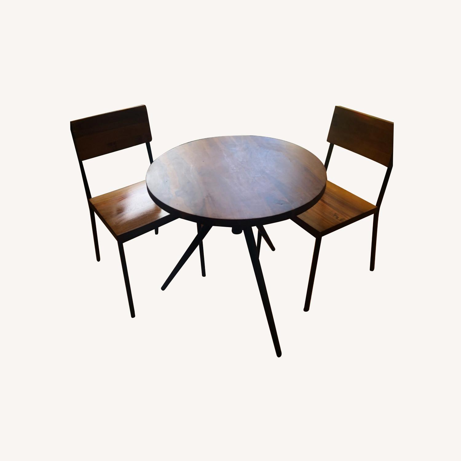 West Elm Bistro Table and Chairs - image-0