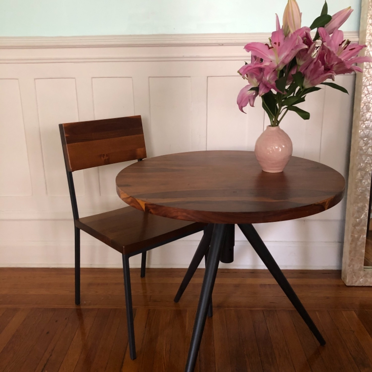 West Elm Bistro Table and Chairs - image-8