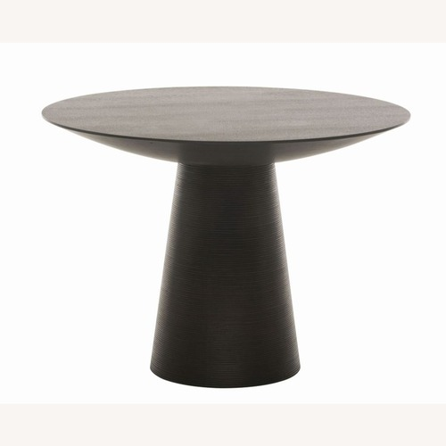"""Used Nuevo Living Round Wood Dining Table 40"""" for sale on AptDeco"""