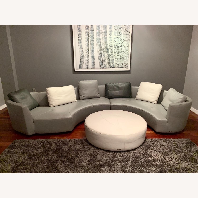 Roche Bobois Grey Round Sofa - image-5