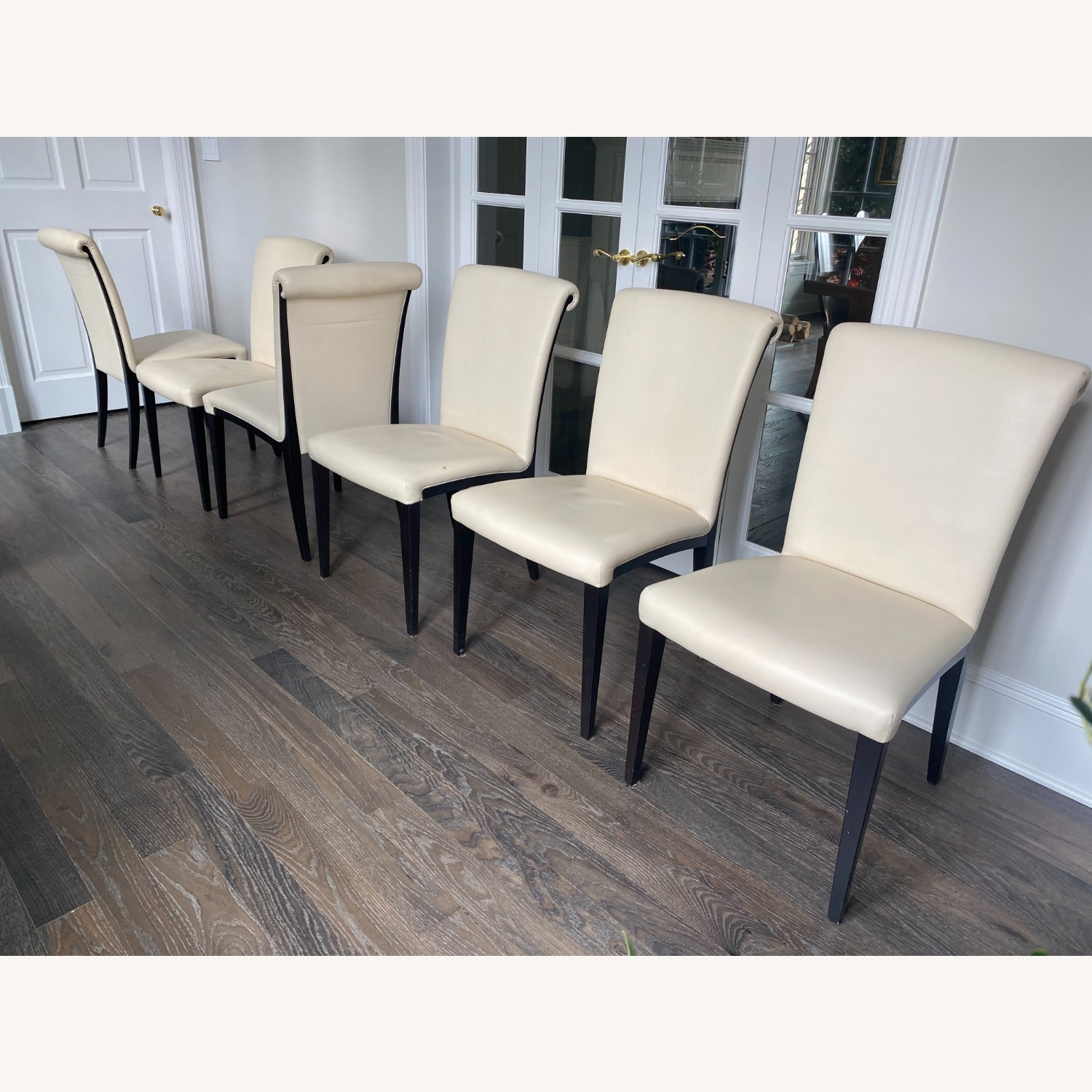 Poltrona Frau set of 6 Leather Dining Chairs - image-2