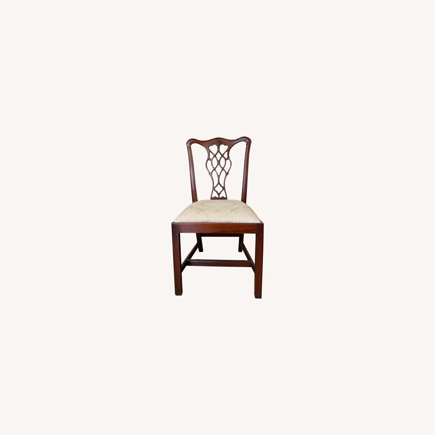 4 Councill Mahogany Chippendale Dining Chairs - image-0