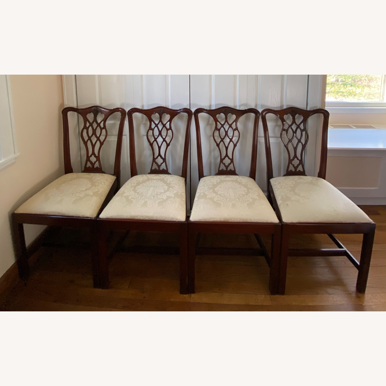 4 Councill Mahogany Chippendale Dining Chairs - image-9