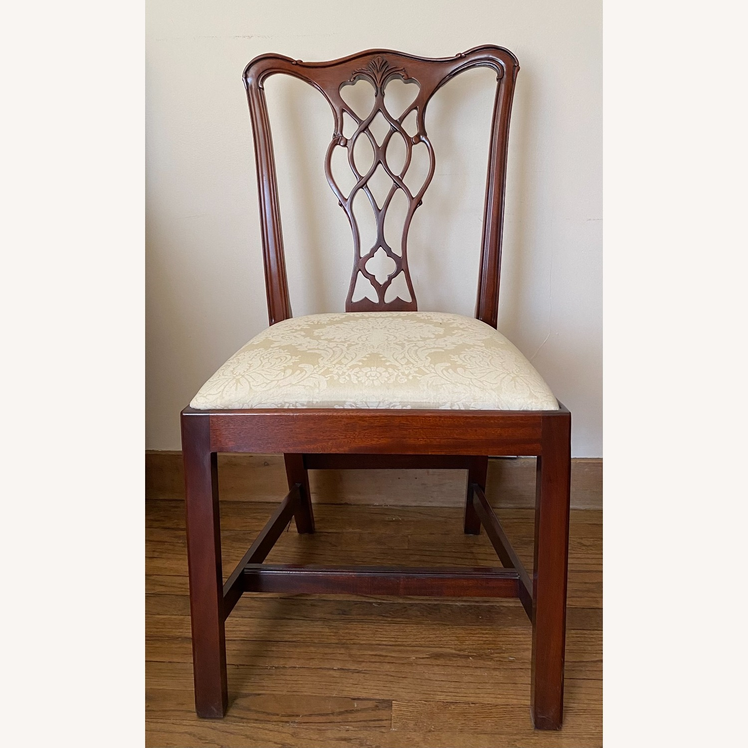 4 Councill Mahogany Chippendale Dining Chairs - image-1